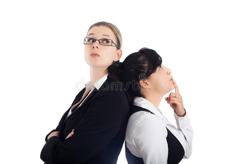 Business women competition royalty free stock image