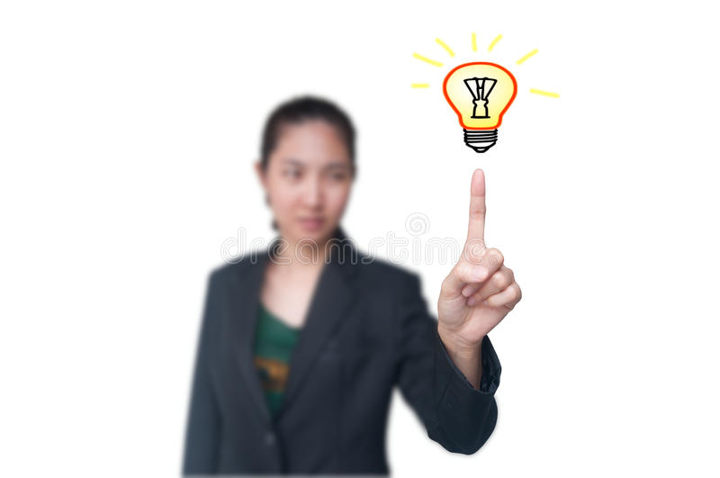 Download Business women get idea stock photo. Image of electrical - 20850808