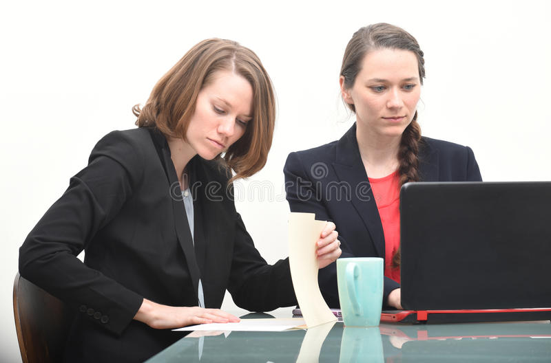 Business women working together stock photo