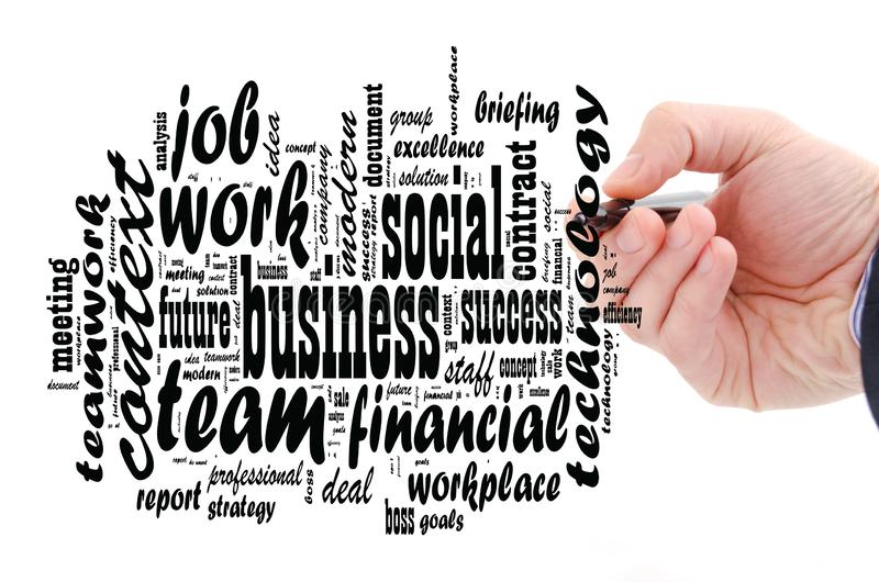Business  word cloud collage royalty free stock image