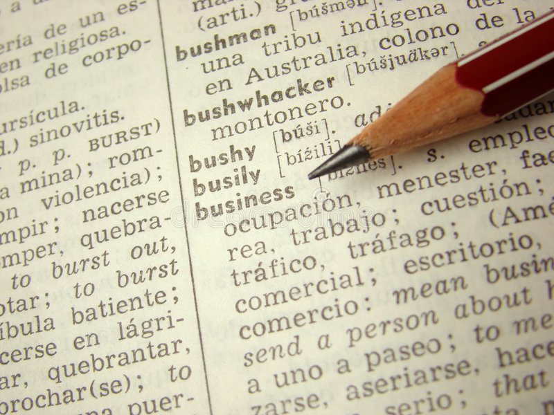 'business' word dictionary royalty free stock photos