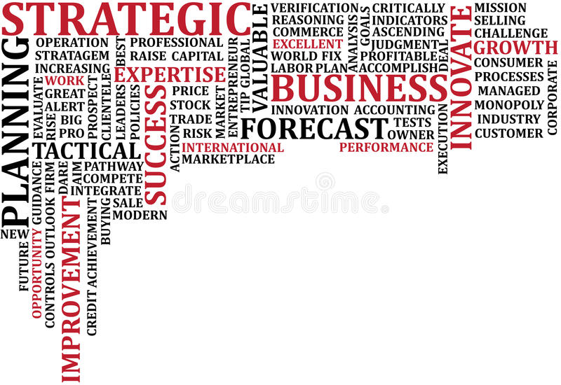 Business Words Collage 3 stock illustration