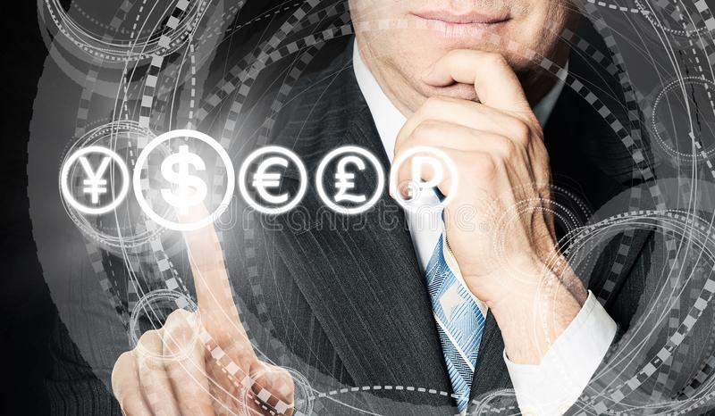 Business Work, Analysis and Success. Human Hands pick dollar royalty free stock photography