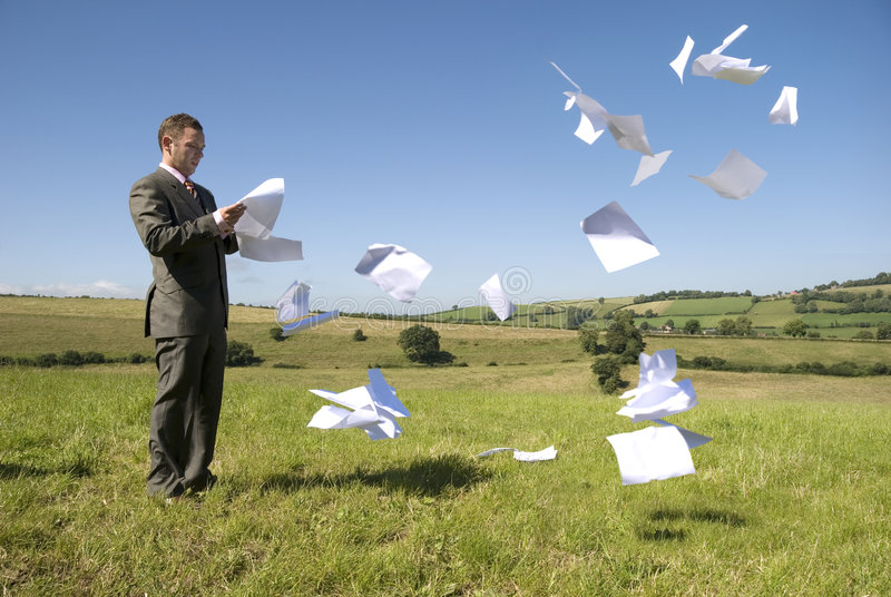Business Work Overload. Business concept with paperwork flying everywhere! See my gallery for more