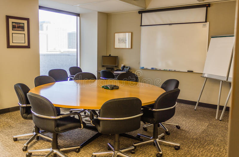 Business Work Room. Business oriented work and small conference room stock photos