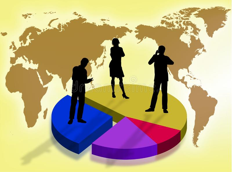 Business in the world royalty free stock photo