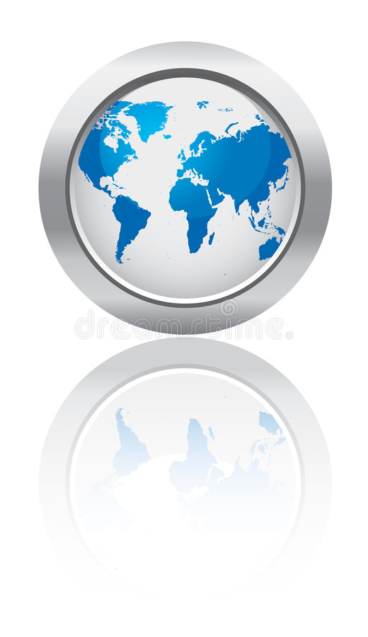 Business world button stock illustration