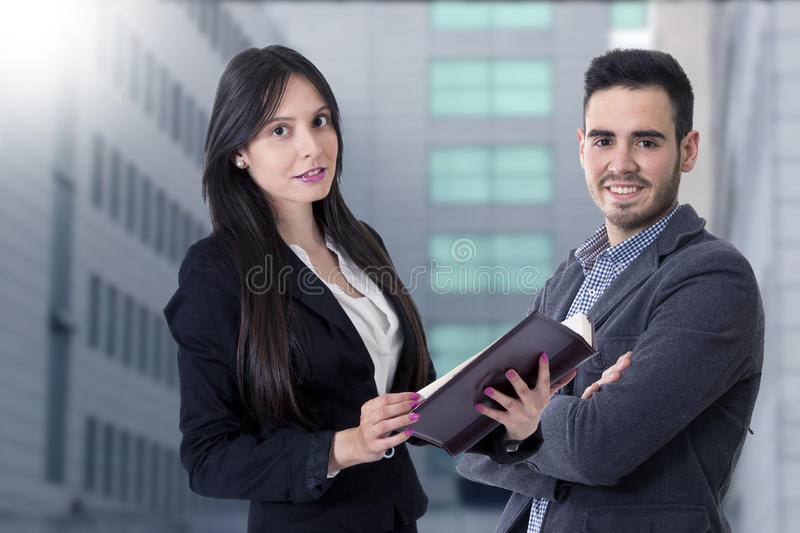 Young team of business royalty free stock image