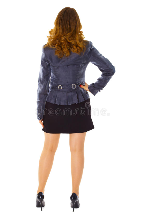 Business young woman - rear view royalty free stock images