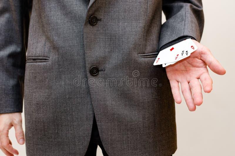 Businessamen z as w rękawie zdjęcia stock