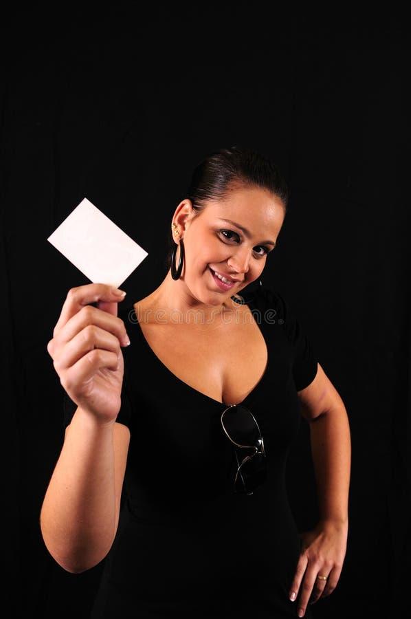 businesscard妇女年轻人 库存图片