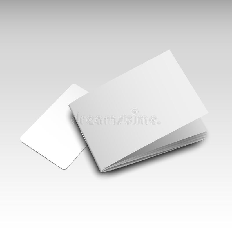 Businesscard小册子大模型 向量例证