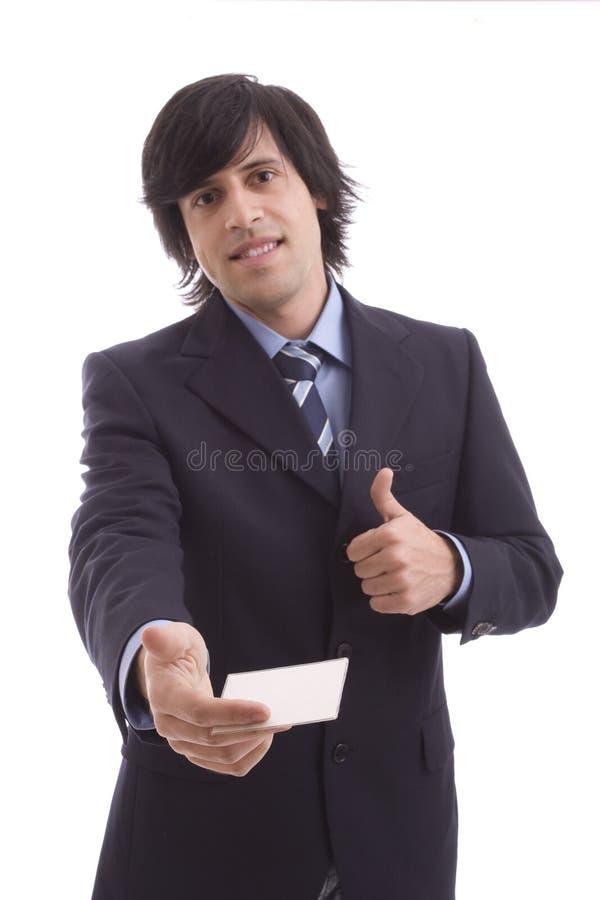 businesscard biznesmena ofiara obraz royalty free