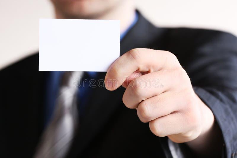 businesscard biznesmena ofiary potomstwa zdjęcie stock