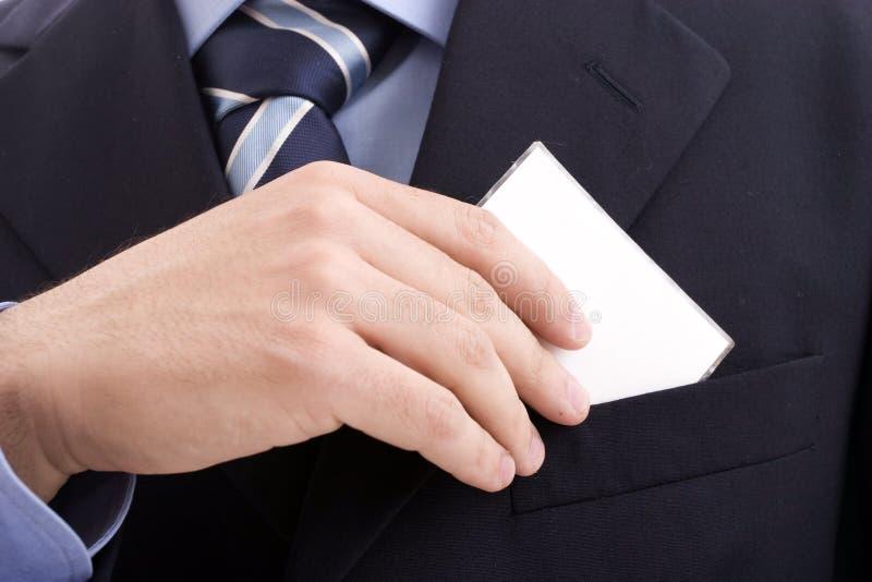 businesscard biznesmena ręki ofiara obrazy royalty free