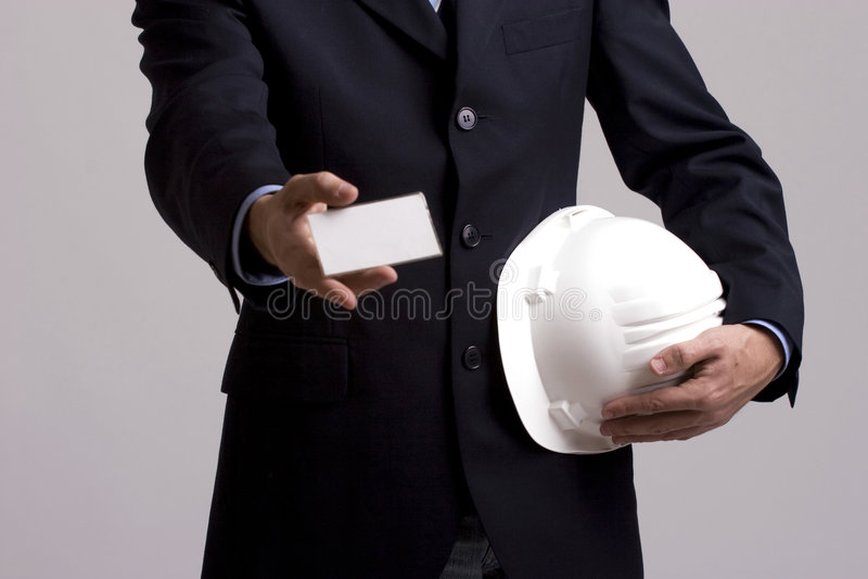 businesscard biznesmena ręki ofiara zdjęcia royalty free