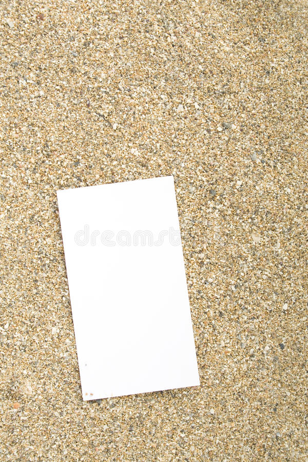 Download Businesscard on sand stock photo. Image of material, gold - 14264072