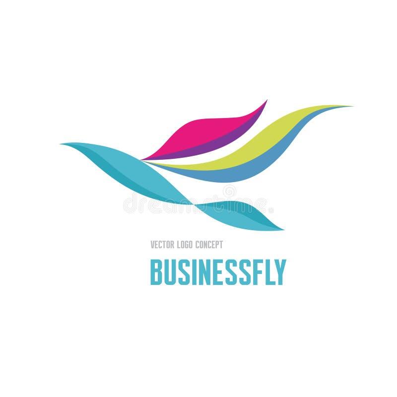 Businessfly - concetto di logo di vettore Illustrazione di concetto dell'uccello Modello di logo di vettore Segno di logo di affa illustrazione di stock