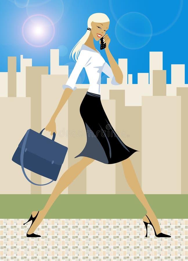 Businessgirl illustration stock
