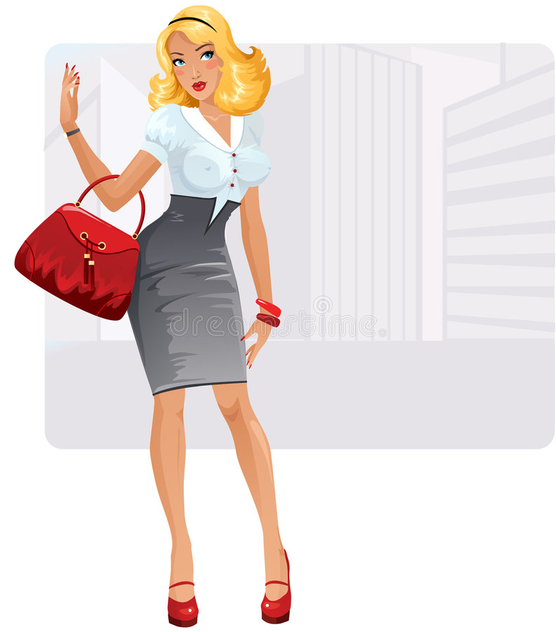 Businesslady sexy illustration stock