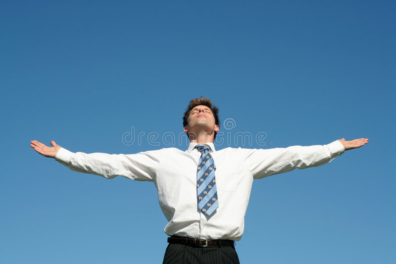 Download Businessman stock photo. Image of stretching, outdoors - 2255008