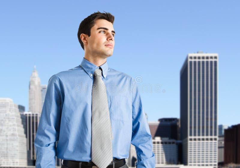Businessman. Portrait of an handsome businessman stock image