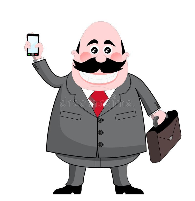 Download Businessman Showing Smartphone Mobile Isolated Stock Vector - Image: 24878169