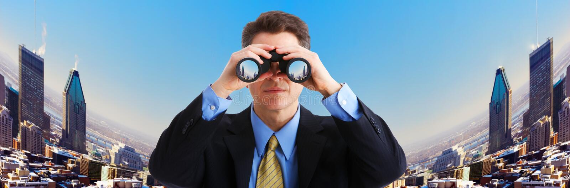Download Businessman stock image. Image of binocular, portrait - 4500699