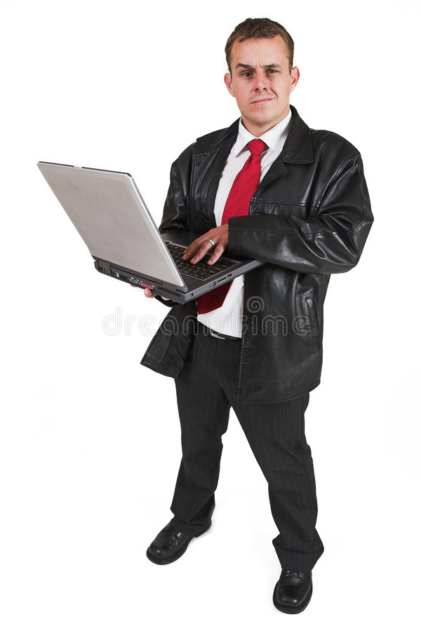 Download Businessman #49 stock image. Image of business, shirt, computer - 156375