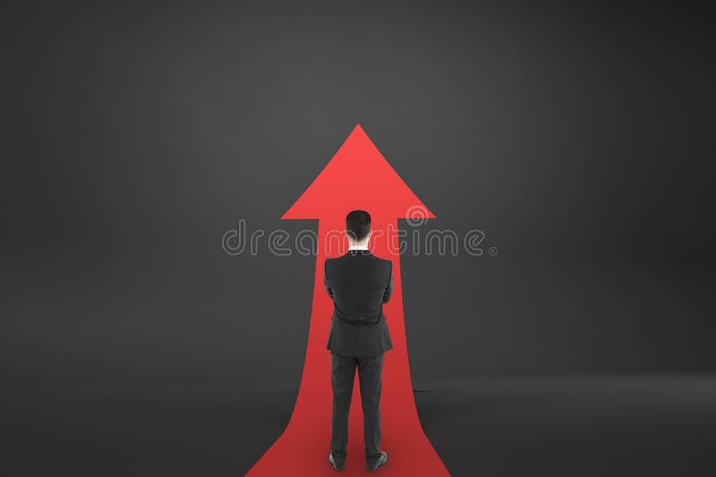 Growth and forward concept stock photo
