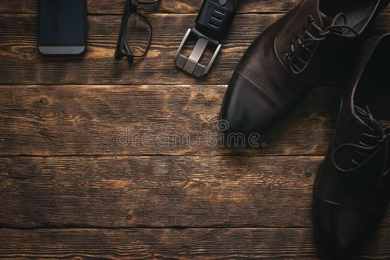 Businessman accessories. stock image
