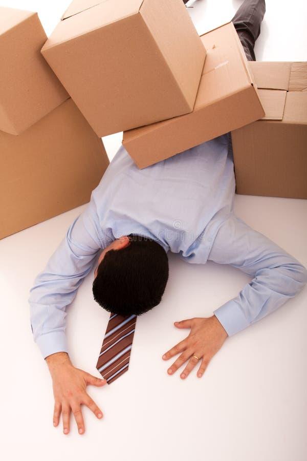 Businessman accident stock image