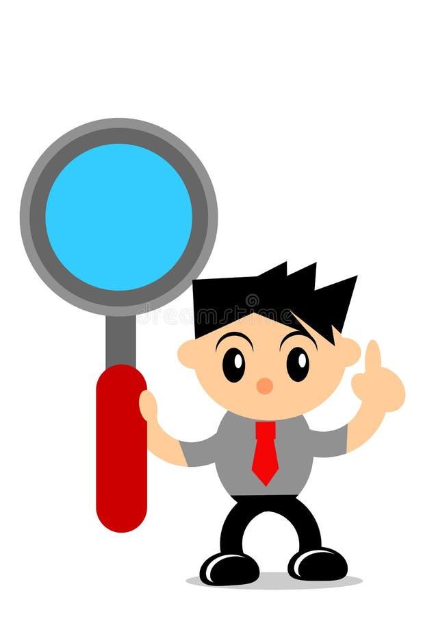 Download Businessman activity stock illustration. Illustration of detective - 33181115