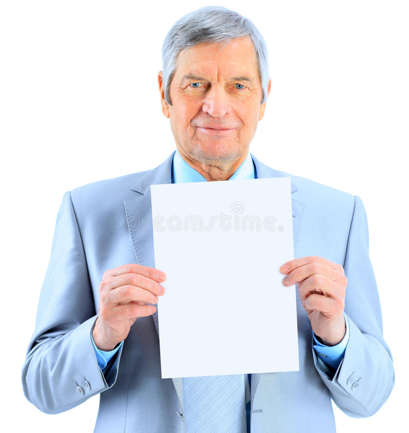 Download Businessman At The Age Of't Holding Stock Photography - Image: 24391262