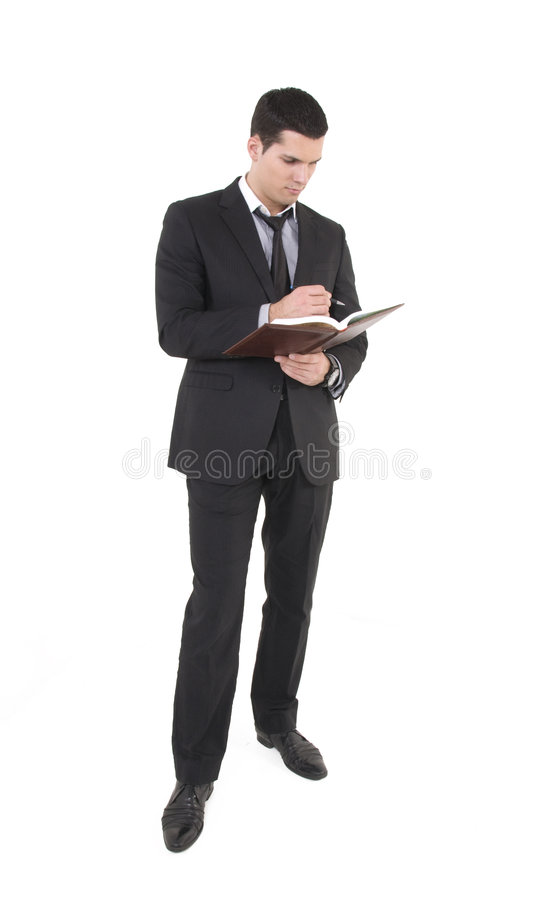 Businessman With Agenda Stock Photography