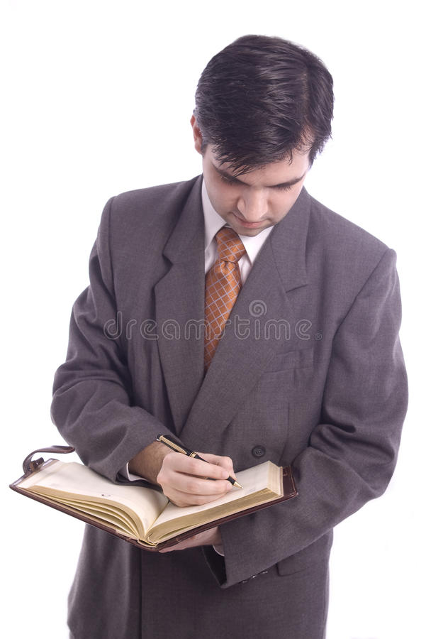 Businessman With Agenta Stock Images