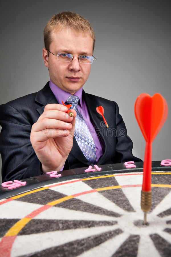 Businessman Aiming To Target Royalty Free Stock Photos