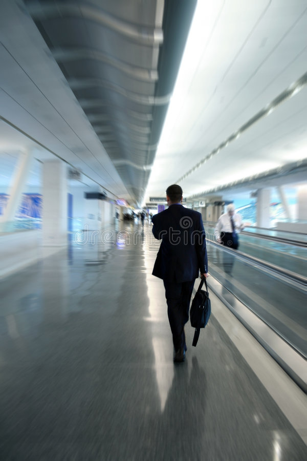 Businessman at the airport royalty free stock photography