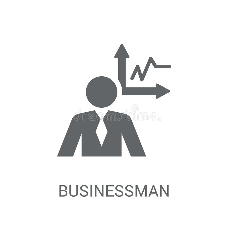 Businessman analysis icon. Trendy Businessman analysis logo concept on white background from Business and analytics collection royalty free illustration