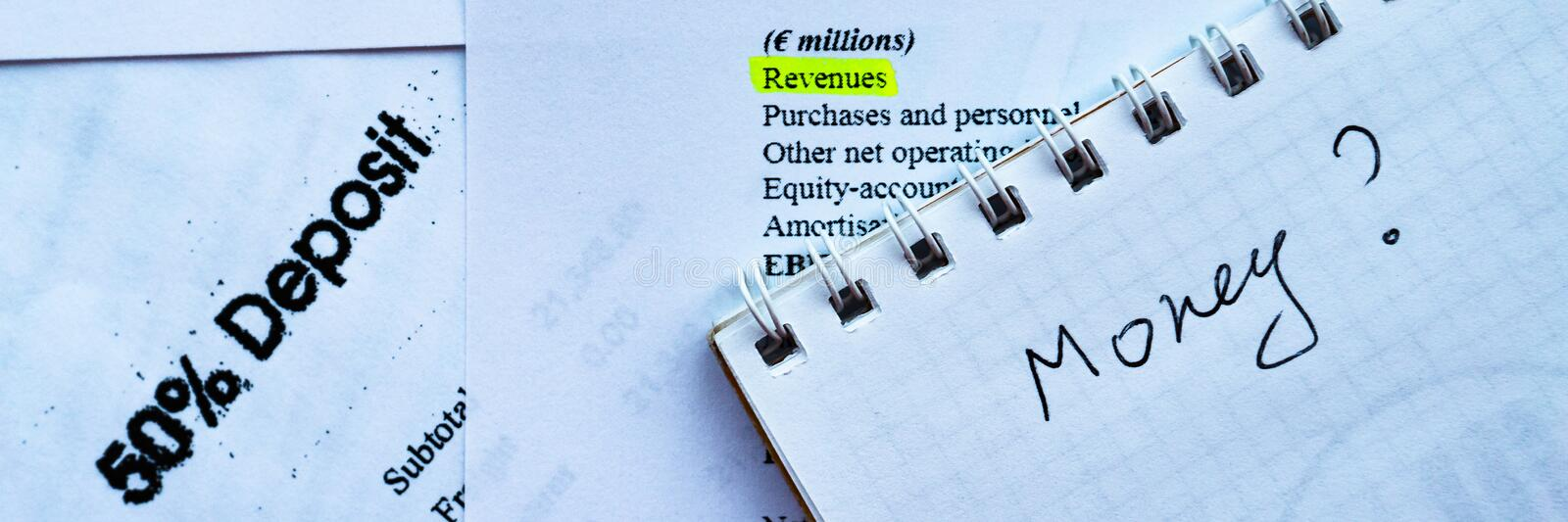 Businessman analyzing investment statement and fianancial report, money profit. Businessman analyzing investment statement and fianancial report, question profit stock images