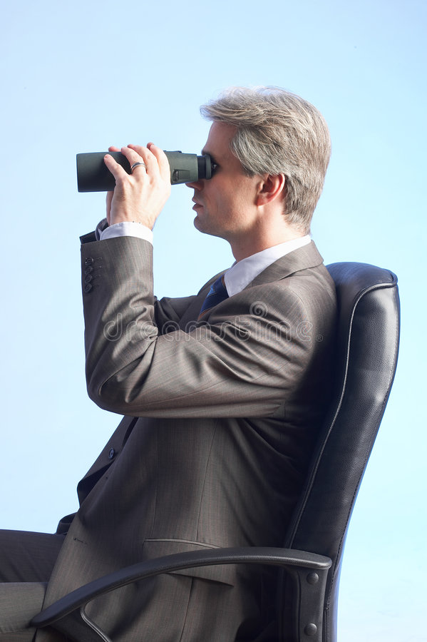 Free Businessman And Field-glasses Stock Images - 2483664