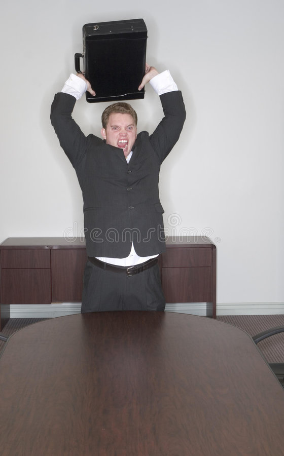 Businessman anger royalty free stock photography