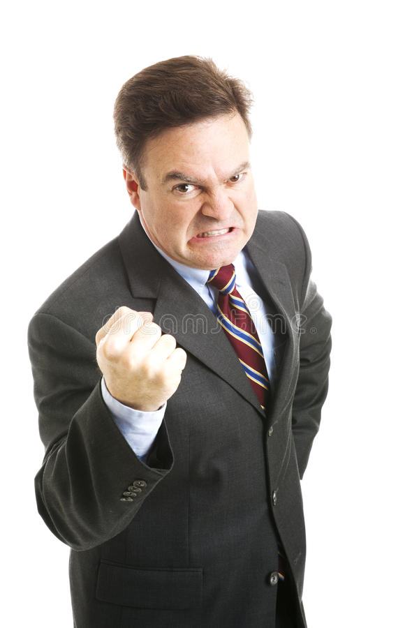 Download Businessman - Angry Threatening Royalty Free Stock Photos - Image: 20401348
