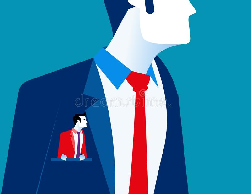 Businessman with another businessmen in pocket. Concept business vector illustration vector illustration