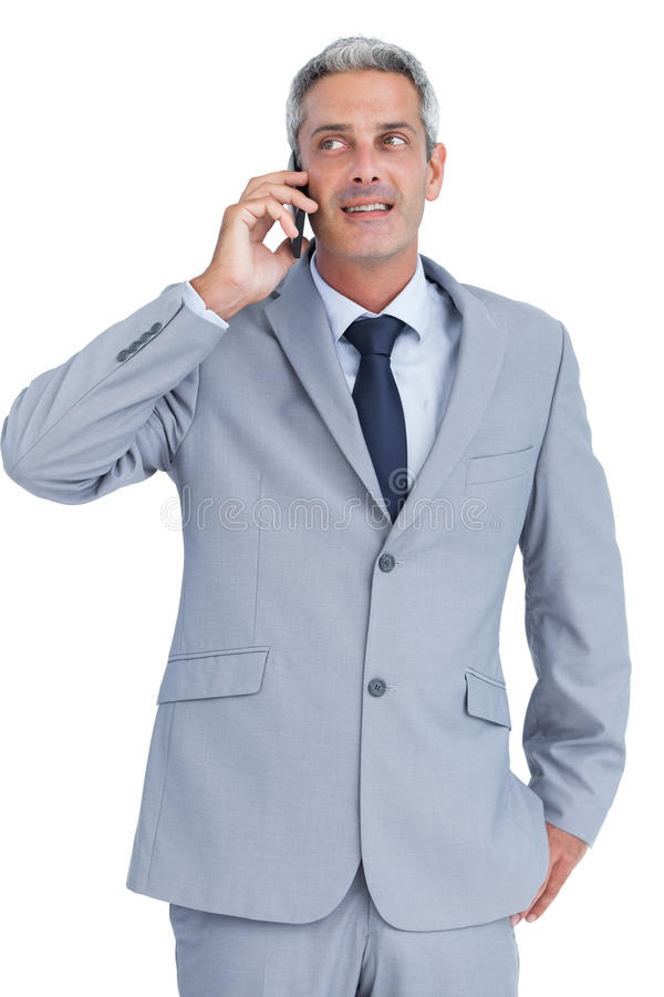 Download Businessman Answering Phone Stock Image - Image: 33052361