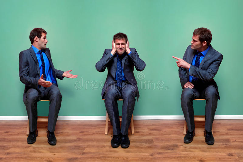 Download Businessman Arguing With Himself Stock Image - Image: 13597845