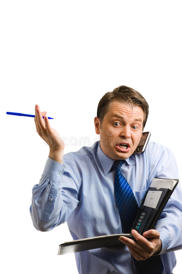 Free Businessman Arguing On Phone Stock Photography - 11763382