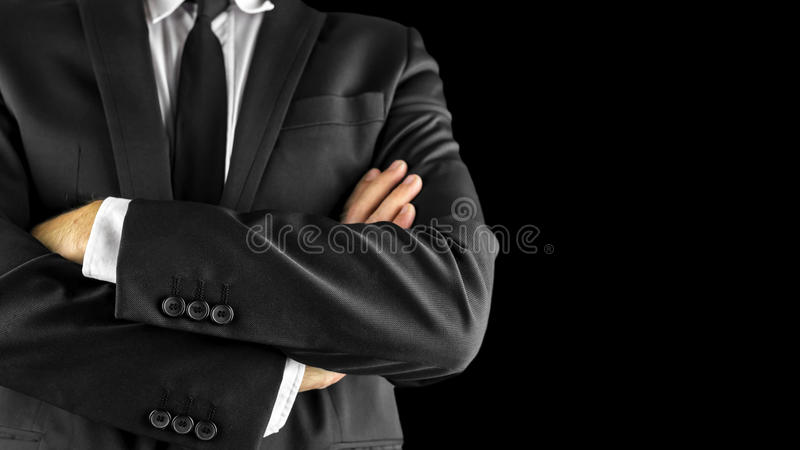 Businessman with arms crossed royalty free stock photo
