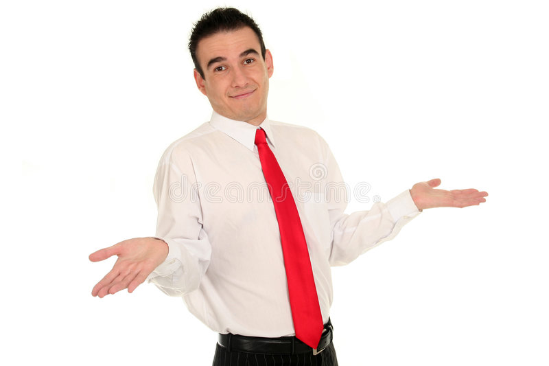 Download Businessman With Arms Raised Stock Photo - Image: 3498604