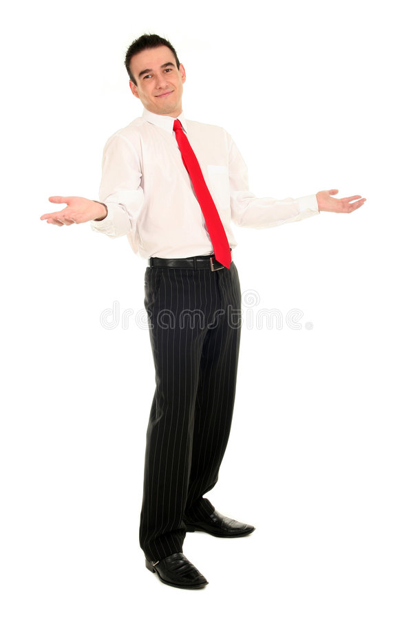 Download Businessman With Arms Raised Stock Photo - Image: 3514674